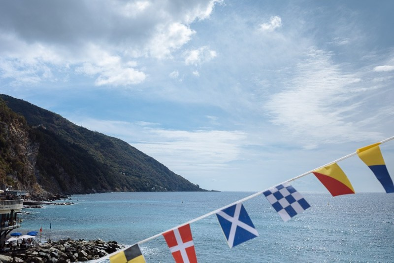 Camogli flags Seaview Luca Vieri Wedding Photography