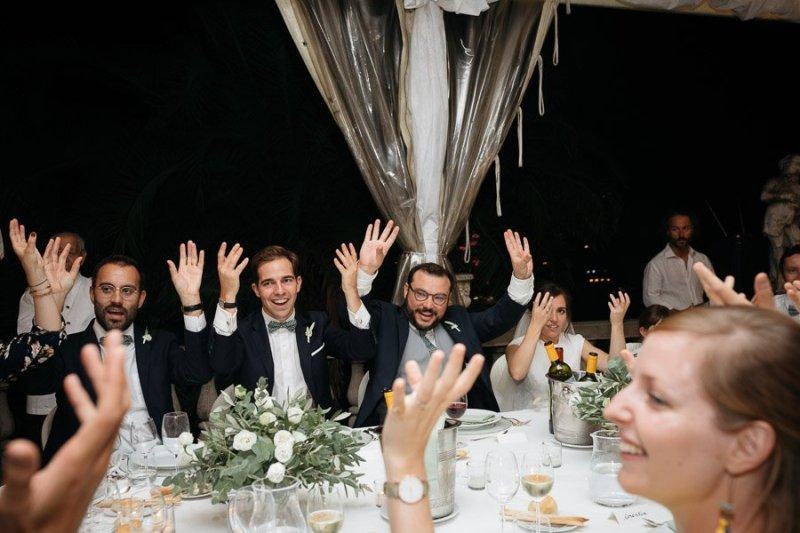 Wedding Dinner in Villa Durazzo