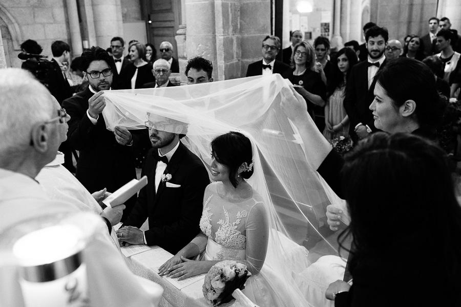 Matrimonio Cerimonia religiosa Basilicata Matera Velo sugli Sposi