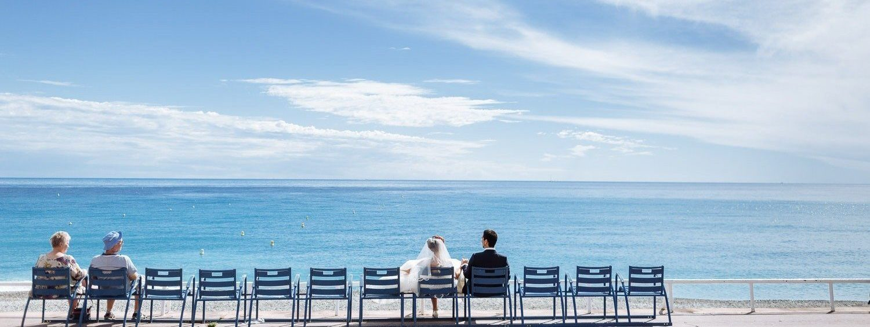 Blue Chairs Nice Luca Vieri Wedding Photographer