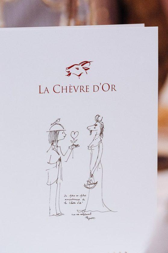 Wedding Menu de La Chèvre d'Or Eze Village Luca Vieri Photographer